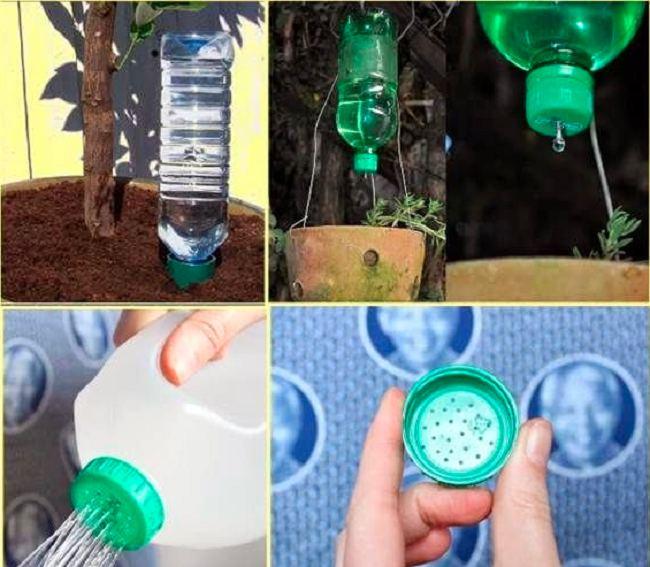 tái chế chai nhựa thành bình tưới cây